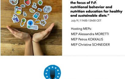 16. Consumer empowerment in the focus of F2F: nutritional behavior and nutrition education for healthy and sustainable diets.